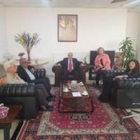الديمقراطيه تزور سفيرة فنزويلا وتعرض معها الاوضاع الفلسطينيه