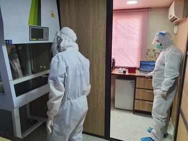 مستشفى الهمشري يأخذ ٢٣ مسحة لمخالطين في