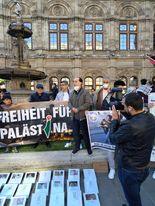 وقفة جماهيرية حاشدة دعما للشعب الفلسطيني في العاصمة النمساوية فيينا