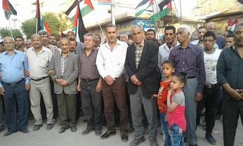 تجمع الحسينية مسيرة جماهيرية بمناسبة الذكرى الـ 70 للنكبة