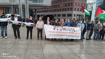 وقفة تضامنية مع الأسرى في سجون الاحتلال في برلين