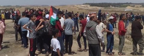 عشرات الإصابات برصاص جيش الاحتلال شرق غزة