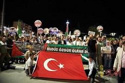 مظاهرات بالمدن التركية تنديداً بالمجزرة الإسرائيلية في غزة