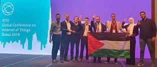 نيزك فلسطين يضئ في سماء دبي فلسطين تفوز بالمركز الأول في تحدي العرب لإنترنت الأشياء