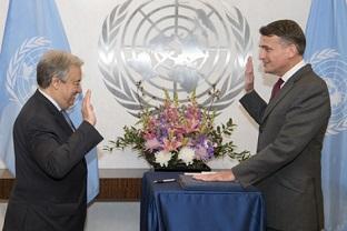 الأمين العام للأمم المتحدة يعين السيد كريستيان ساوندرز قائما بأعمال الاونروا