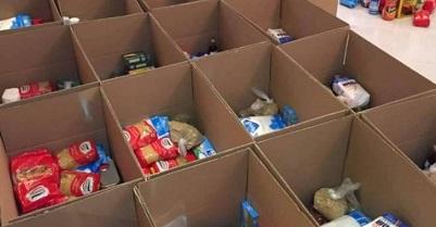 توزيع 100 سلة غذائية على عدد من العائلات الفلسطينية السورية في لبنان