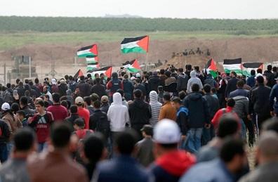 الهيئة الوطنية لمسيرات العودة تدعو لمسيرة الجمعة بغزة