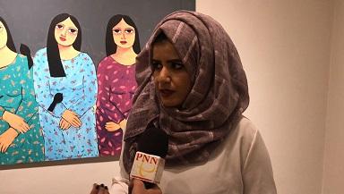 في اطار دعمه للفنانين الشباب : جاليري ذا وولد اوف هوتيل يستضيف معرض بعمر الورد للفنانة هيا كعابنة