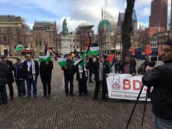 وقفة أمام البرلمان ووزارة الخارجية الهولندية رفضا لصفقة القرن