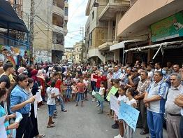 اعتصام حاشد في مخيّم برج الشمالي لمطالبة