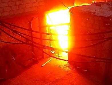 اندلاع حريق في منشرة خشب بمخيم جرمانا