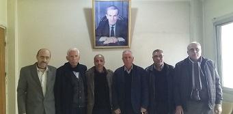 الديمقراطية في اقليم سورية بإجتماع مشترك مع أمين وأعضاء قيادة فرع اليرموك لحزب البعث العربي الاشتراكي