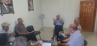 اجتماع في مُخيّم البريج من أجل متضرري عدوان 2014