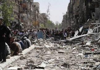 استشهاد 10 من الفصائل الفلسطينية بمخيم اليرموك