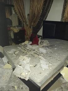مخاوف من انهيار منزل في شاتيلا بعد سقوط سقفه