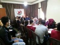 أشد يرفض إجراءات الاونروا ويعتصم ضذ قرار اغلاق مدرسة العوجا في عدلون جنوب لبنان
