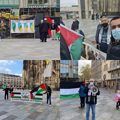 وقفة تضامنية مع مدينة القدس في مدينة كولون في ألمانيا