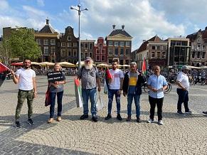 وقفة تضامنية مع شعبنا و مناهضة لجدار الفصل العنصري في خرونغن الهولندية