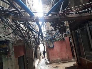 كارثة الموت المجاني صعقاً بالكهرباء في مخيم برج البراجنة ... إلى متى؟