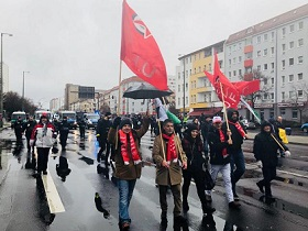 الديمقراطية تشارك في مسيرة لحزب اليسار الألماني في برلين