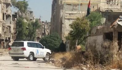 وفد من الأونروا والهيئة العامة للاجئين يزور مخيم اليرموك