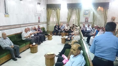 الديمقراطية تشارك في مجلس عزاء الدكتور شاكر الشهابي مشرف عام الهلال الأحمر الفلسطيني في سوريا