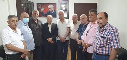 اتحاد نقابات عمال فلسطين / فرع لبنان يلتقي الرفيق علي فيصل ويعرض معه اوضاع العمال الفلسطينيين
