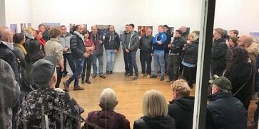 افتتاح معرض النكبة مستمرة للمصور الصحفي محمد العزة في ايرلندا بهدف تسليط الضوء على معاناة شعبنا