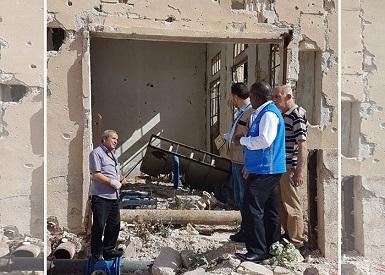 مدير شؤون الأونروا في سورية يزور مخيم حندرات