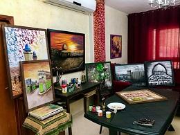 فنانة فلسطينية تحول