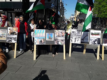 وقفة تضامنية في ذكرى النكبة الفلسطينية جنوب النرويج
