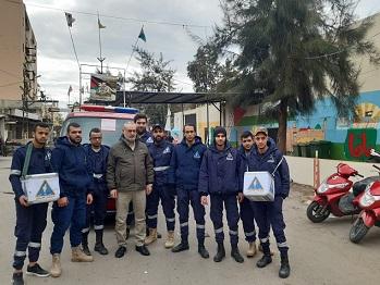 حملة تبرعات لدعم الدفاع المدني في عين الحلوة مع وقف تمويله منذ 8 أشهر
