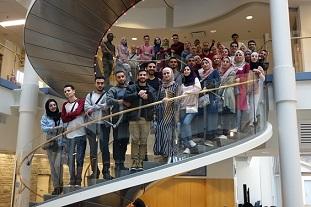 وفدٌ طلابي فلسطيني يشارك بورشات عملٍ بجامعة ميتشغان الأميريكية