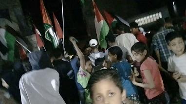 تظاهرات ليلية في مخيّمات اللاجئين الفلسطينيين بريف دمشق دعماً للقدس