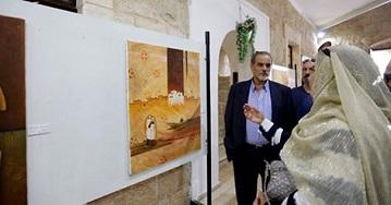 إفتتاح معرض للفنان محمد الحاج في رام الله