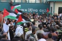 الاضراب الشامل يعم مؤسسات الاونروا في قطاع غزة