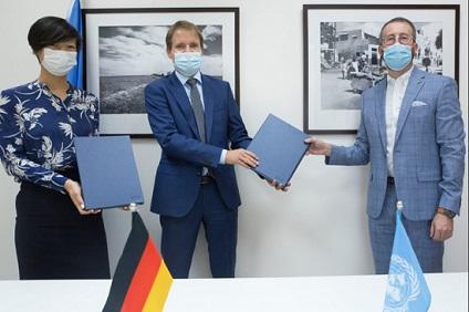ألمانيا تستثمر في خدمات الأونروا التعليمية والصحية والنقد مقابل العمل والبنية التحتية دعما للاجئي فلسطين في الشرق الأوسط