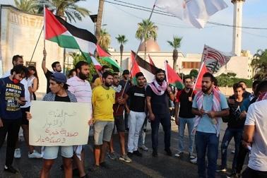 شباب القوى الوطنية في صيدا يتضامنون مع الشعب الفلسطيني