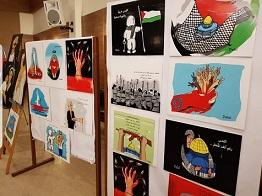 الفنانة اللبنانية قيسي : سخرت لوحاتي لفلسطين ومعاناة شعبها