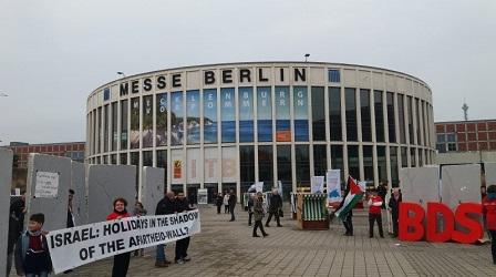 مشاركة انصار الجبهة الديمقراطيىة مع مجموعة المقاطعة    امام المعرض الدولي للسياحة في برلين   BDS   لمقاطعة الشركات الإسرائيلة