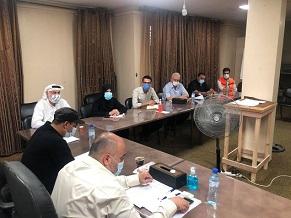 اللجنة الشعبية بمُخيّم النصيرات تناقش مع البلدية تقليصات