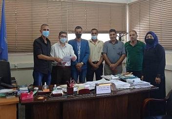 دائرة اللاجئين بـ«الديمقراطية» تلتقي مسؤول منطقة عمليات «الأونروا» بغزة