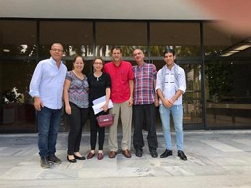 وفد «الديمقراطية» باميركا اللاتينية يلتقي خوان كارلوس المسؤول في حزب الشيوعي الكوبي