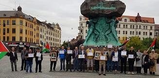 وقفة تضامنية مع الاسرى الفلسطينيين في مدينة مالمو السويدية