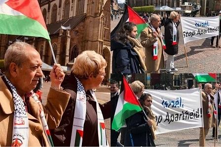 وقفة تضامنية مع الشعب الفلسطيني في مدينة «هارلم» في هولندا