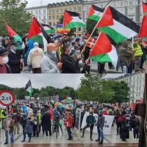 مسيرة ضخمة، ومظاهرة جماهيرية حاشدة رفضا لمشروع الضم في الدانمارك
