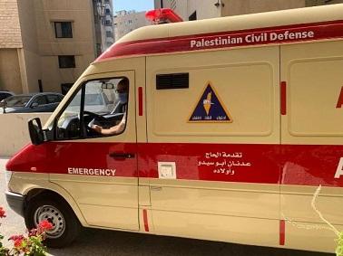 تقديم سيارة إسعاف حديثة للدفاع المدني الفلسطيني في
