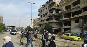 دائرة وكالة الغوث بالديمقراطية : استمرار الجهود لعودة دورة الحياة لربوع مخيم اليرموك بسوريا
