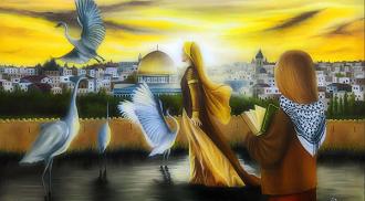 ترشيح الفنان التشكيلي الفلسطيني وائل ربيع لمسابقة أفضل فنان/فنانة تشكيلي عربي في العالم، للعام 2019