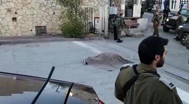 استشهاد مواطن في الخليل بزعم تنفيذ عملية طعن